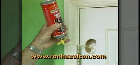 how to patch a in a hollow door 171 construction