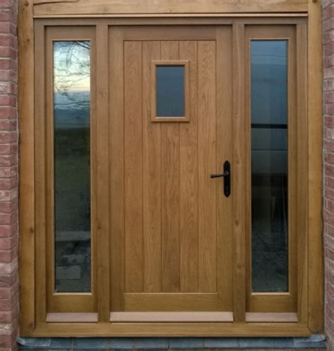 External Doors And Frame External Frame And Filled Door With Frame And Sidelights
