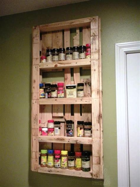 large pallet kitchen spice rack  recycled pallet ideas