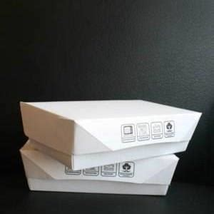 Paper Box Lunch Ukuran M sell lunch box paper ukuran m harga murah from indonesia