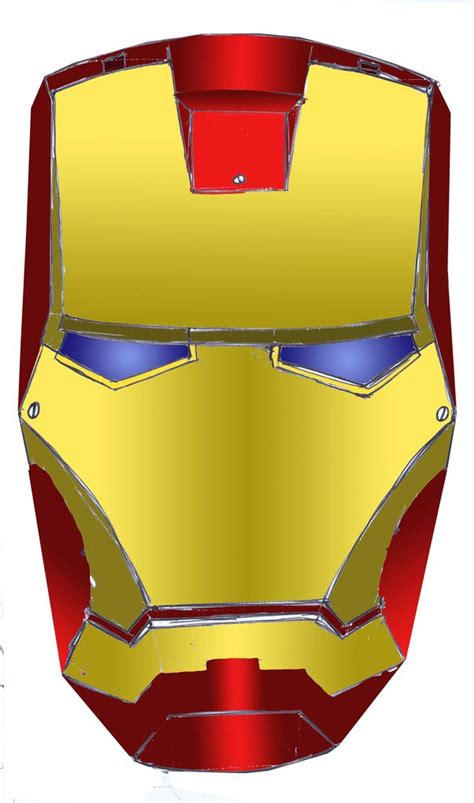 ironman mask template clip cliparts co
