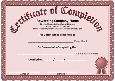 certificate template on word word certificate template 44 free sles