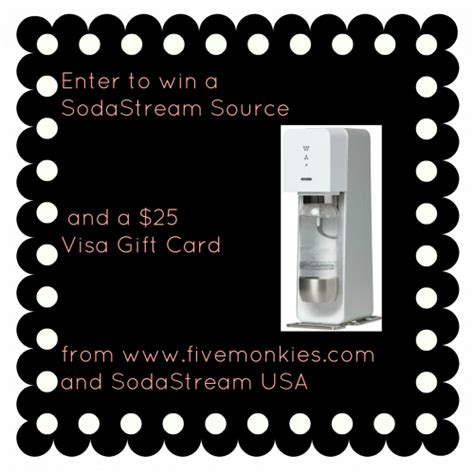 Sodastream Giveaway - sodastream and 25 visa gift card giveaway