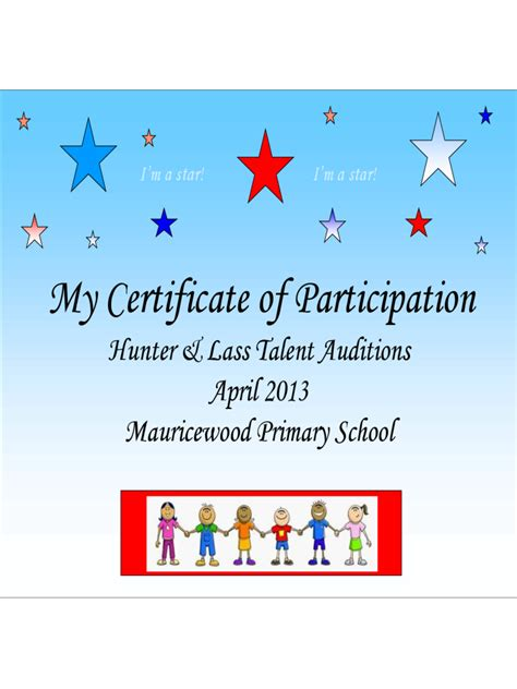 talent show certificate 1 free templates in pdf word