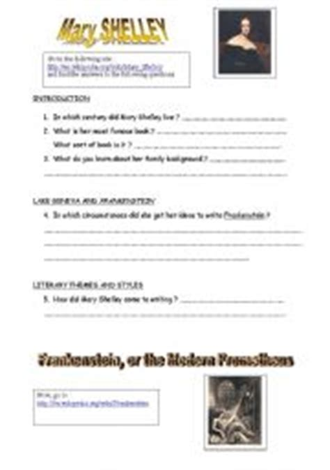 literature a review of readings on frankenstein english teaching worksheets frankenstein