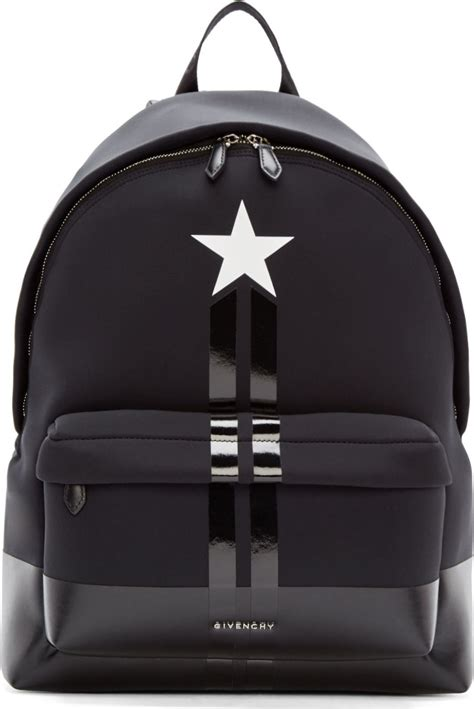 black packs givenchy black neoprene and leather backpack in black