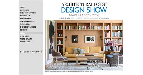home and design show 2016 architectural digest design show builder and developer