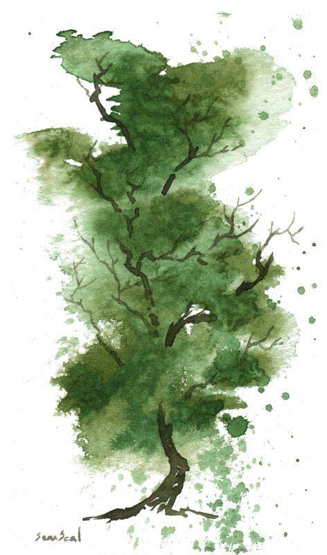 water color tree watercolor tree arts crafts en 2018