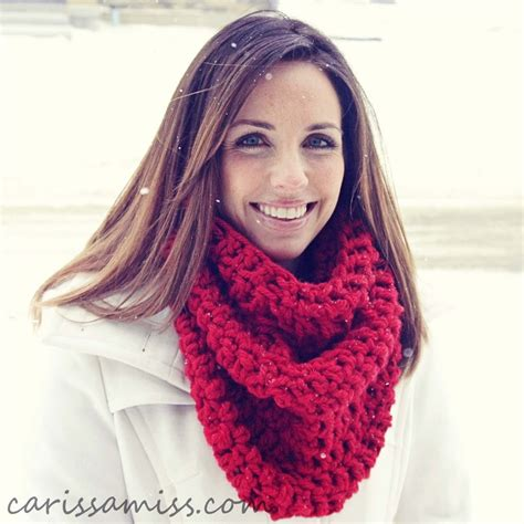 infinity scarf crochet infinity scarf tutorial carissa miss