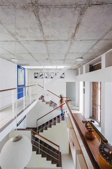 Exposed Concrete Ceiling by Lateral House Gaurav Roy Choudhury Architects Archinect