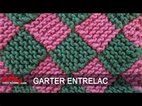 knitting pattern youtube garter entrelac knitting youtube