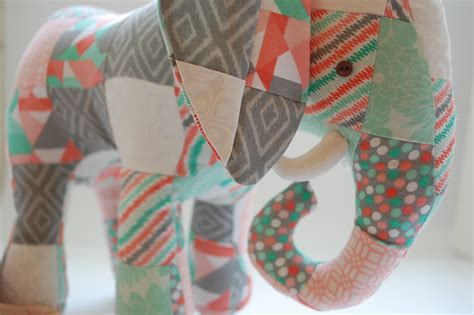 Elephant Patchwork - patchwork elephant pattern coming soon whileshenaps