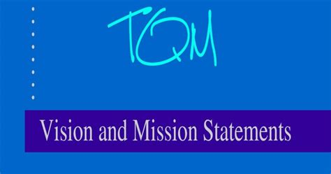 Vision And Mission Of Mba Student by Vision And Mission Statements Mba Notes