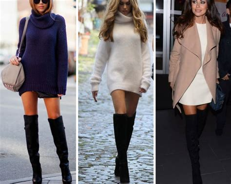 how to wear the knee boots fall winter 2014 style report the knee boots