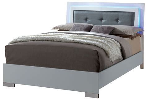 upholstered full bed clementine smooth white full upholstered bed from