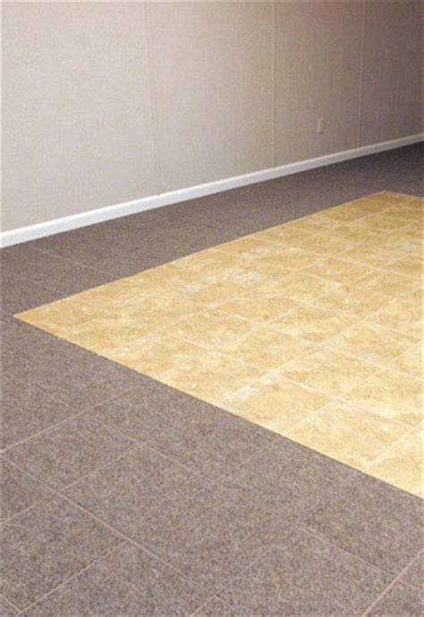 basement flooring tile in joliet naperville