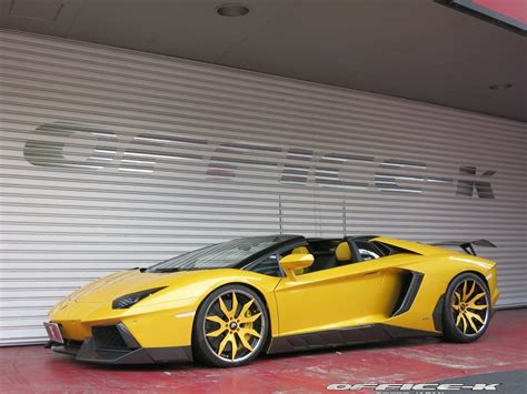 lamborghini aventador s roadster yellow yellow lamborghini aventador roadster by office k gtspirit