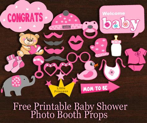 free printables for baby shower photo booth free printable girl baby shower photo booth props