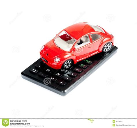 toy car  calculator concept  insurance buying