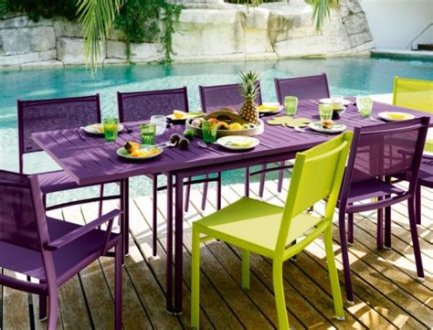 fermobs eco outdoor furniture offers  colorful retreat