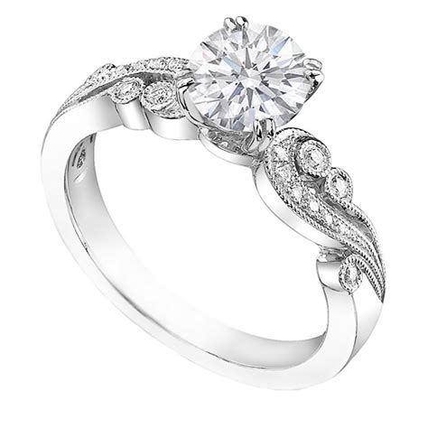 engagement ring vintage design from mdc diamonds