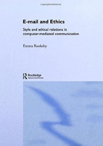 interpersonal messages communication and relationship 2nd edition ebook email and ethics style and ethical relations in computer