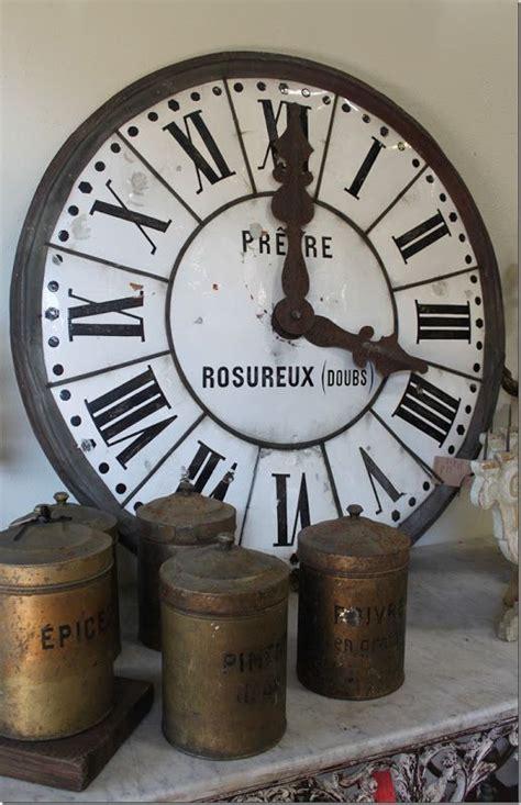 industriele len wit brocante d 233 co industrielle vintage ancienne horloge d