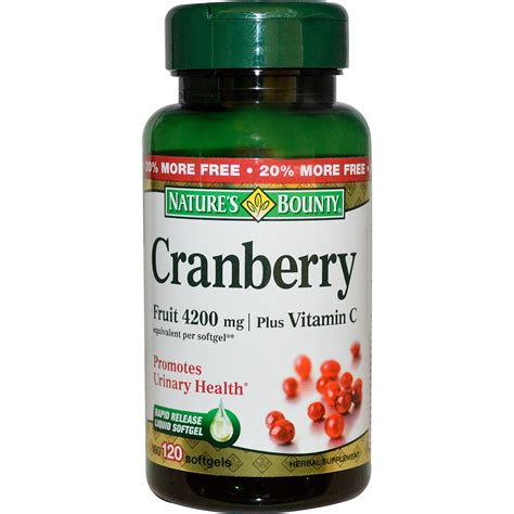 Suplemen Cranberry Nature S Bounty Cranberry Plus Vitamin C 4200 Mg 120