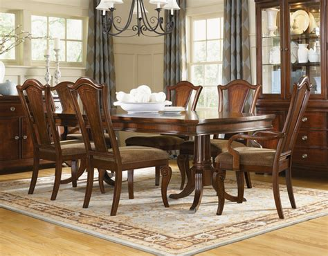 pedestal dining room table sets murray double pedestal formal dining set traditional