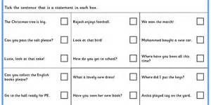 identifying statements ks1 spag test practice classroom