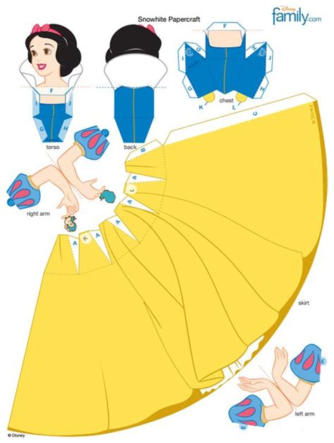 Princess Papercraft - snow white 3d papercraft disney princess