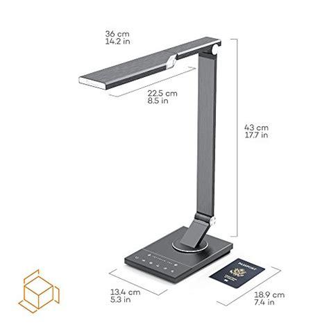 taotronics metal led desk l tt dl16 taotronics tt dl16 stylish metal led desk l office