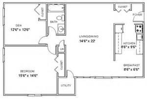 Apartment Floor Plans 1 Bedroom With Den Apartment Floor Plans One Bedroom Den Apartments In