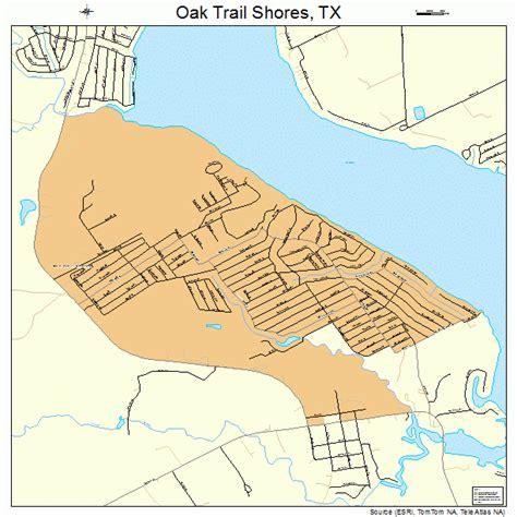 map of oak texas oak trail shores texas map 4853212