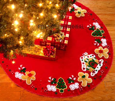 gingerbread house 43 quot bucilla felt christmas tree skirt