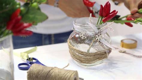 vasi natalizi decorare vasetti di vetro centrotavola natalizio quattro