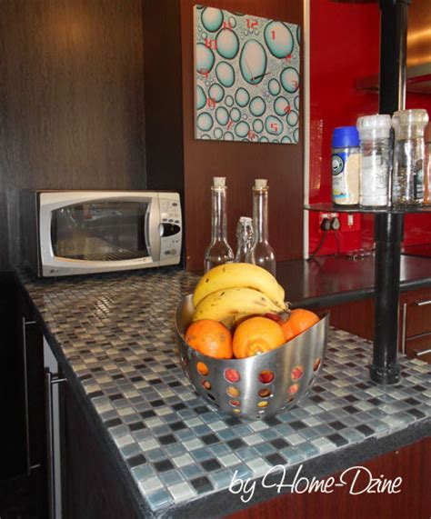 Mosaic Tile Countertop by Home Dzine Home Improvement Apply Mosaic Tile To Kitchen