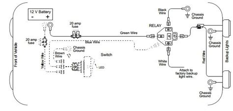 back up light wiring diagram auto info lights
