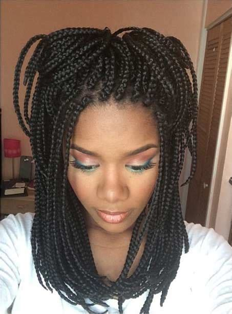 Medium Length Poetic Justice Box Braids | cute styles for long box braids hairstylegalleries com