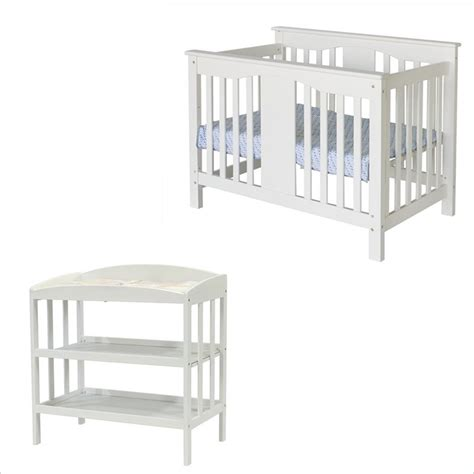 White Crib And Changing Table Set Davinci Annabelle Convertible Changing Table Antique White Crib Set Ebay