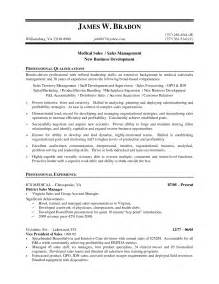 Sales Resumes Sles by Sales Resume Sle Free Resumes Tips