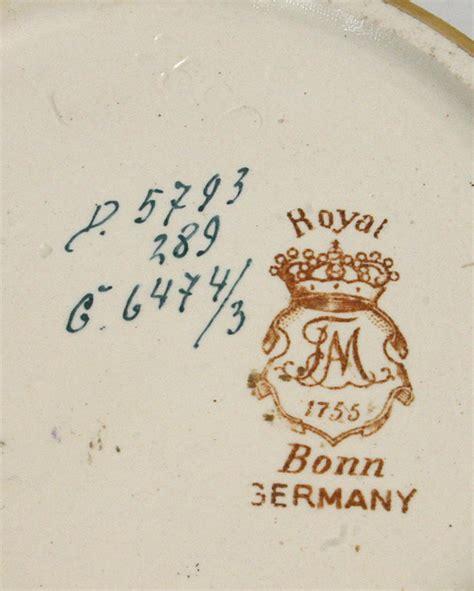Usa Pottery Vase Royal Bonn Artist Signed Porcelain Scenic Vase Germany