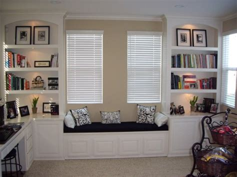 Home Design Software Property Brothers home office bookcases with built in shelving and window