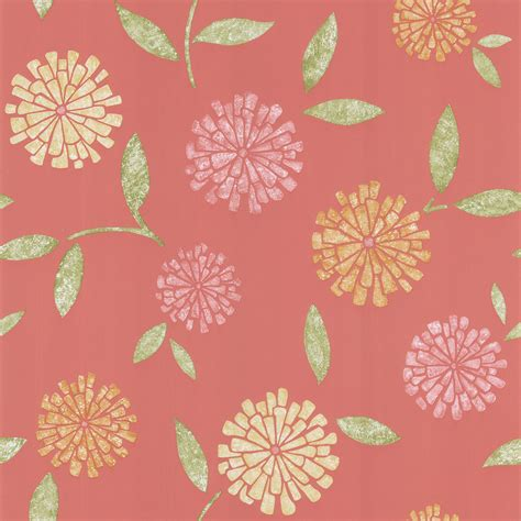 modern floral wallpaper shop salmon modern floral wallpaper online event