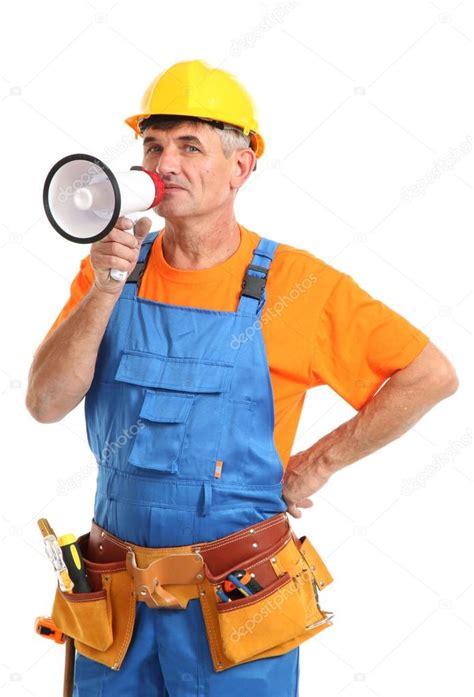 Building Superintendent by Construction Superintendent Directs Repair Isolated On White Up Stock Photo 169 Belchonock