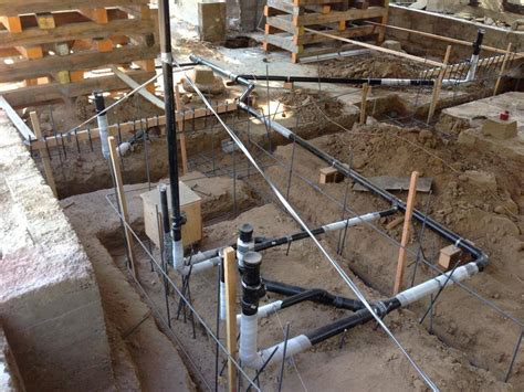 Plumbing California underground plumbing ready to go maxton builders