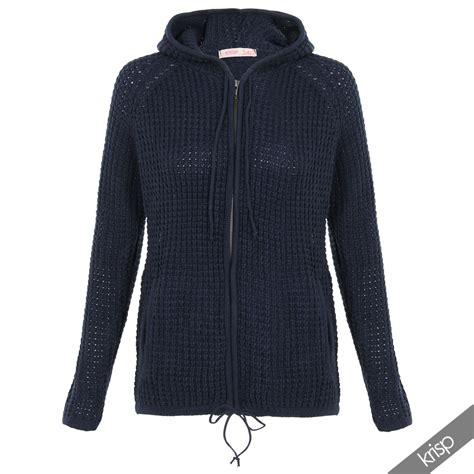 Jacket Jaket Sweater Hoodie Zipper Pria Hitam List Putih womens chunky knitted hooded top zip up jumper sweater warm hoodie jacket cardi ebay