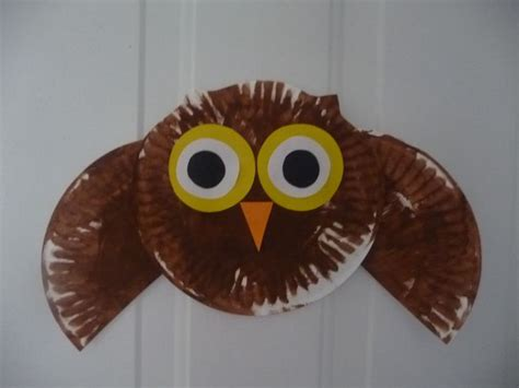 How To Make A Paper Plate Owl - paper plate owl stuff