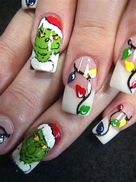 images of christmas nail art 15 christmas lights nail art designs ideas stickers
