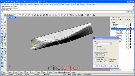 boat drawing program rhino demo rapid ship hull modeling methodology youtube